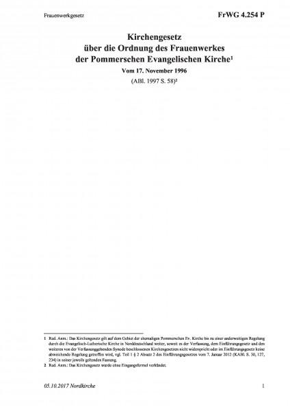 4.254 P Frauenwerkgesetz