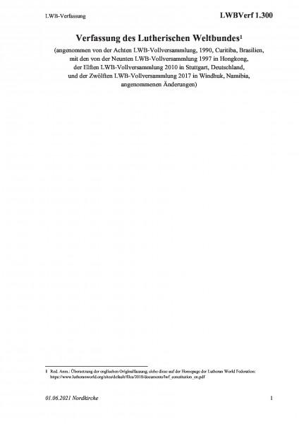 1.300 LWB-Verfassung
