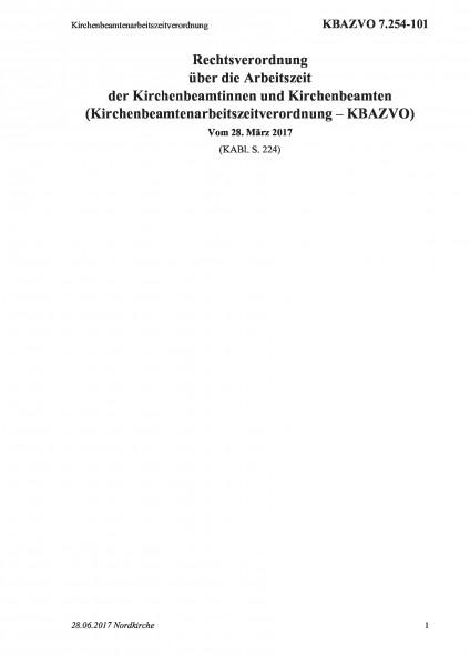 7.254-101 Kirchenbeamtenarbeitszeitverordnung