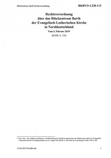 4.230-113 Bibelzentrum Barth Rechtsverordnung