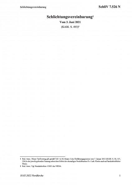 7.526 N Schlichtungsvereinbarung