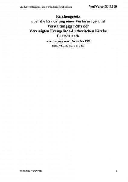 8.100 VELKD Verfassungs- und Verwaltungsgerichtsgesetz