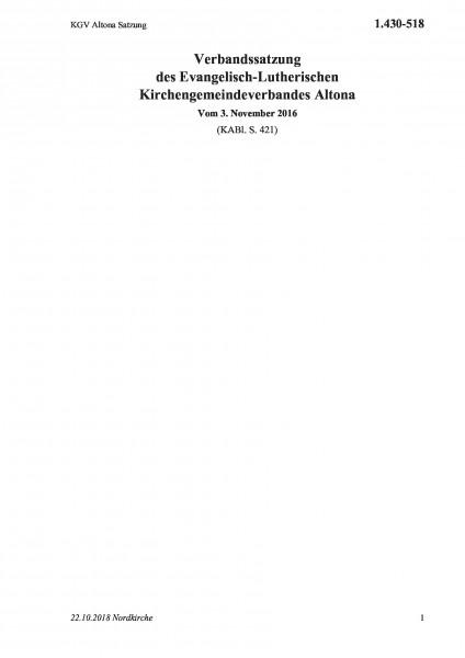 1.430-518 KGV Altona Satzung