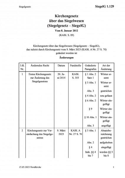 1.129 Siegelgesetz