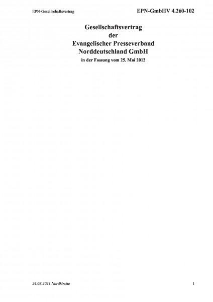 4.260-102 EPN-Gesellschaftsvertrag