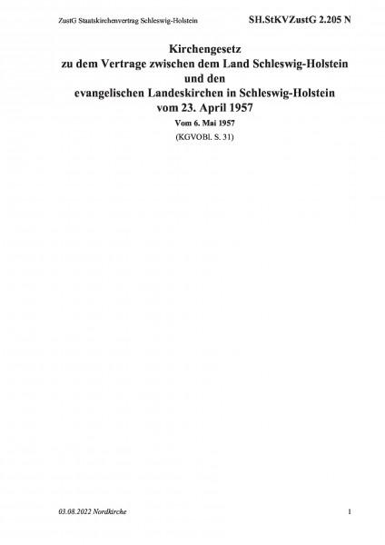 2.205 N ZustG Staatskirchenvertrag Schleswig-Holstein