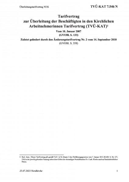 7.546 N Überleitungstarifvertrag NEK