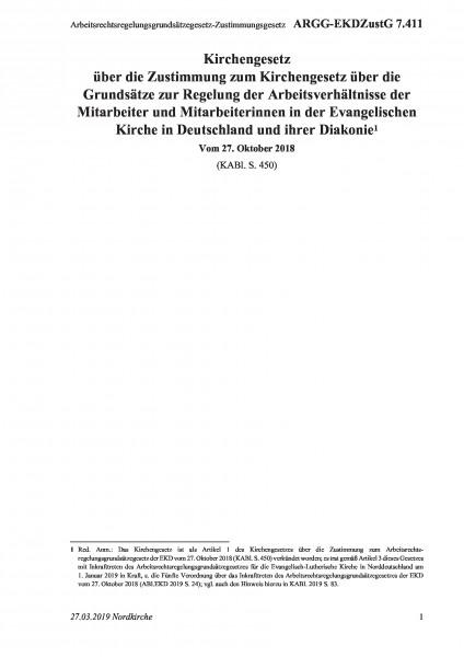 7.411 Arbeitsrechtsregelungsgrundsätzegesetz-Zustimmungsgesetz
