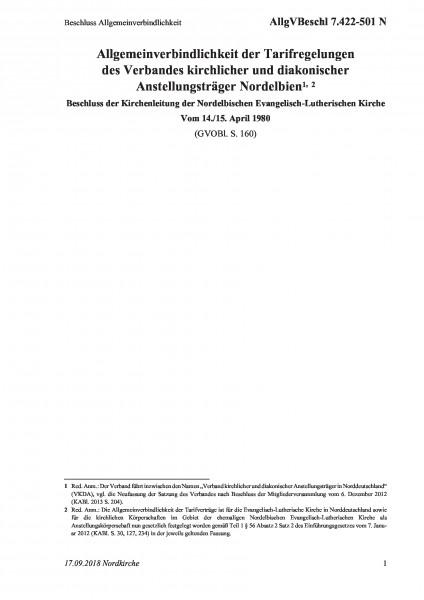 7.422-501 N Beschluss Allgemeinverbindlichkeit
