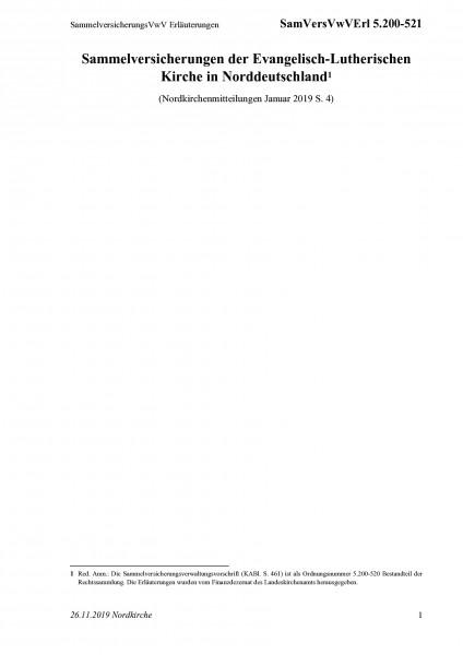 5.200-521 SammelversicherungsVwV Erläuterungen