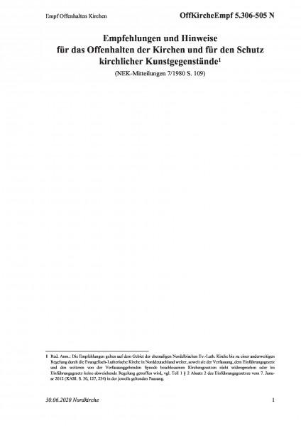 5.306-505 N Empf Offenhalten Kirchen