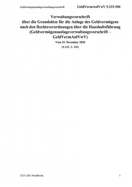5.215-504 Geldvermögensanlageverwaltungsvorschrift