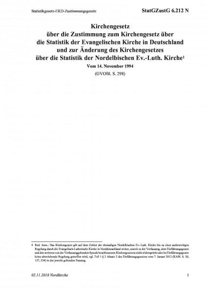 6.212 N Statistikgesetz-EKD-Zustimmungsgesetz