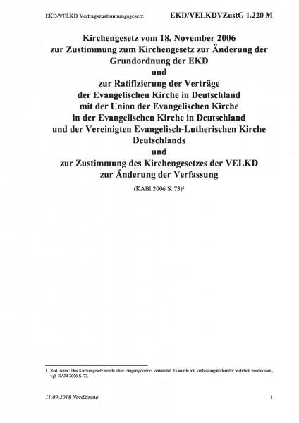 1.220 M EKD/VELKD Vertragszustimmungsgesetz