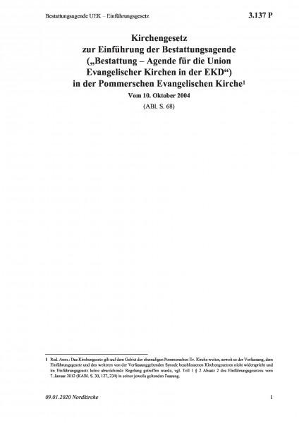 3.137 P Bestattungsagende UEK – Einführungsgesetz