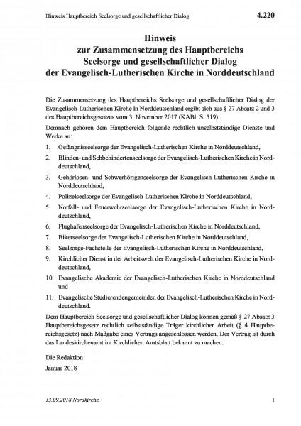 4.220 Hinweis Hauptbereich Seelsorge und gesellschaftlicher Dialog