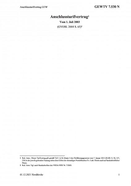 7.530 N Anschlusstarifvertrag GEW