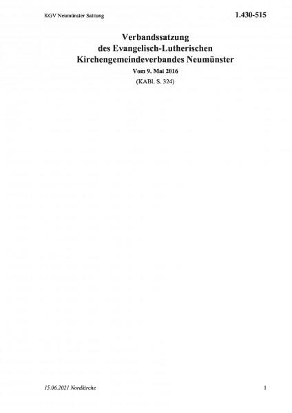 1.430-515 KGV Neumünster Satzung