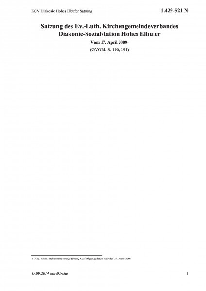 1.429-521 N KGV Diakonie Hohes Elbufer Satzung