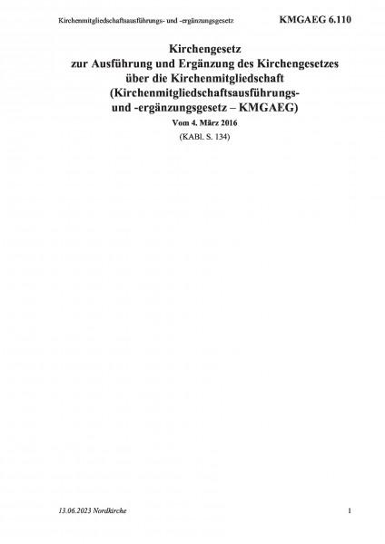 6.110 Kirchenmitgliedschaftsausführungs- und -ergänzungsgesetz