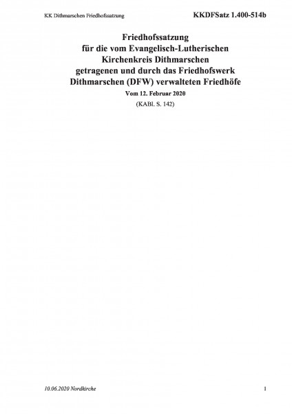 1.400-514b KK Dithmarschen Friedhofssatzung