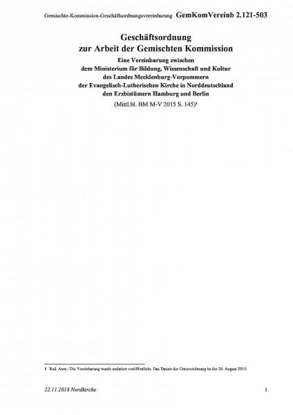 2.121-503 Gemischte-Kommission-Geschäftsordnungsvereinbarung