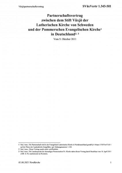 1.343-501 Växjöpartnerschaftsvertrag