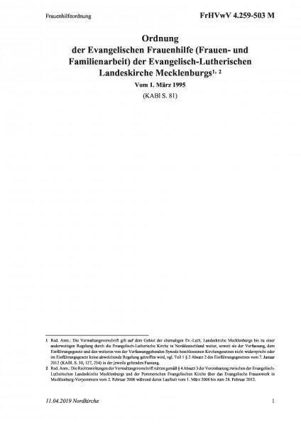 4.259-503 M Frauenhilfeordnung