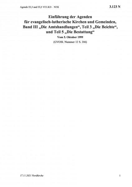 3.123 N Agende III,3 und III,5 VELKD – NEK