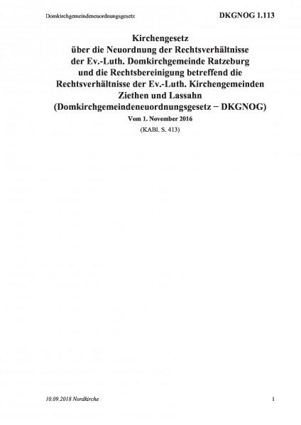 1.113 Domkirchgemeindeneuordnungsgesetz