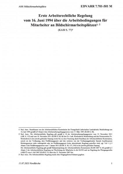 7.701-501 M ARR Bildschirmarbeitsplätze
