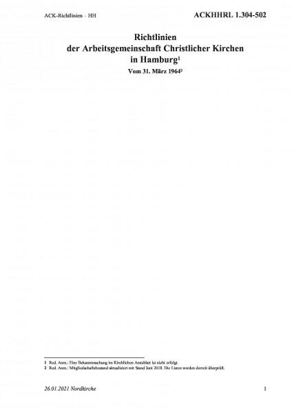 1.304-502 ACK-Richtlinien – HH