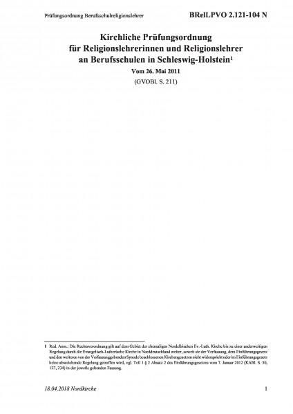 2.121-104 N Prüfungsordnung Berufsschulreligionslehrer
