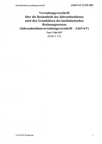 5.215-502 Jahresabschlussverwaltungsvorschrift