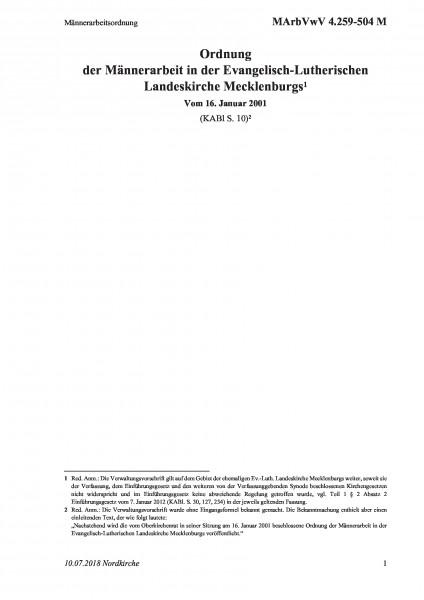 4.259-504 M Männerarbeitsordnung