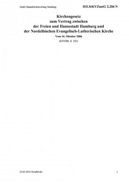 2.206 N ZustG Staatskirchenvertrag Hamburg
