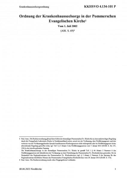 4.134-101 P Krankenhausseelsorgeordnung