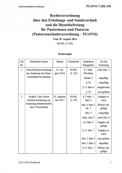 7.202-101 Pastorenurlaubsverordnung