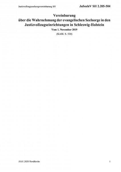 2.205-504 Justizvollzugsseelsorgevereinbarung SH