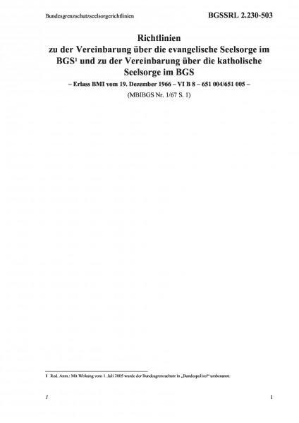 2.230-503 Bundesgrenzschutzseelsorgerichtlinien