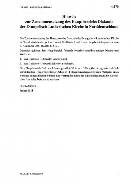 4.270 Hinweis Hauptbereich Diakonie
