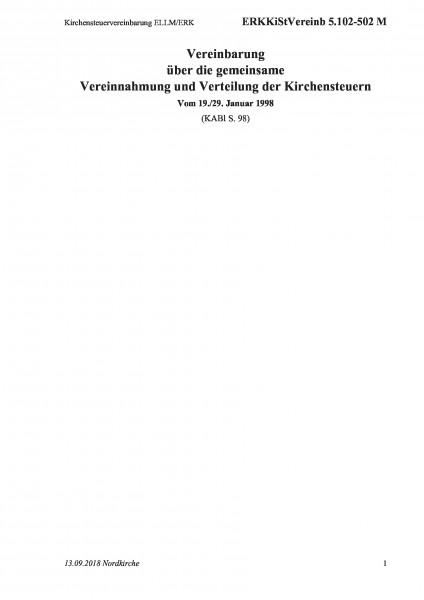 5.102-502 M Kirchensteuervereinbarung ELLM/ERK
