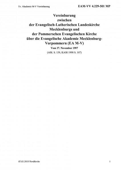 4.229-501 MP Ev. Akademie M-V Vereinbarung