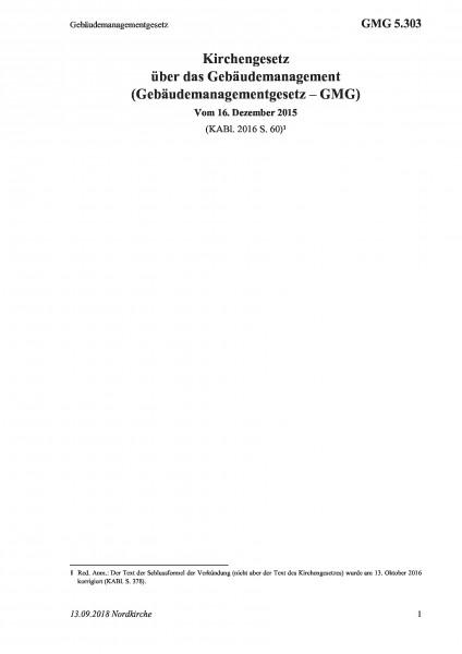 5.303 Gebäudemanagementgesetz