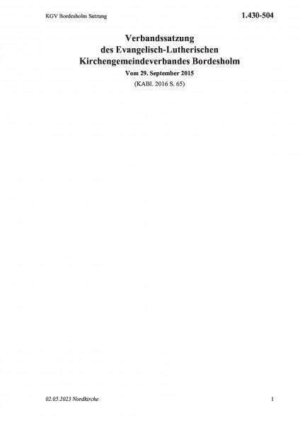 1.430-504 KGV Bordesholm Satzung