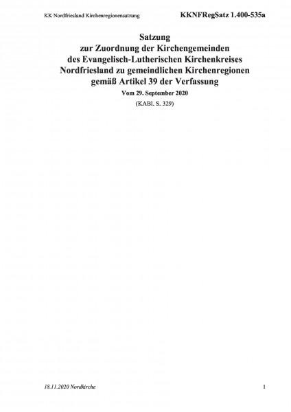 1.400-535a KK Nordfriesland Kirchenregionensatzung