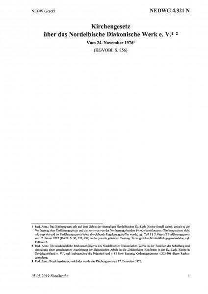 4.321 N NEDW Gesetz