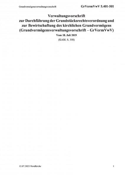5.401-501 Grundvermögensverwaltungsvorschrift