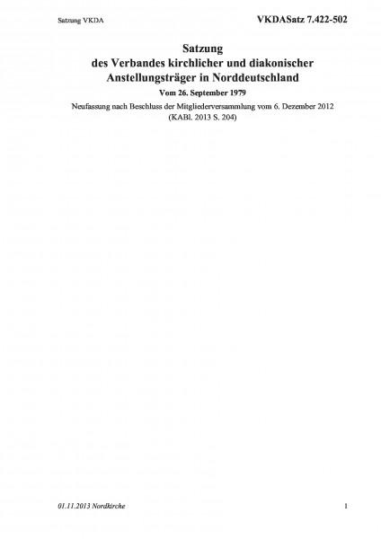 7.422-502 Satzung VKDA