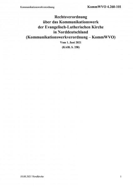4.260-101 Kommunikationswerkverordnung